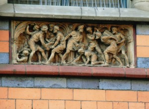 Frieze at Watson Fothergill, at 15 George Street, Nottingham
